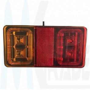 LED Rücklicht, eckig, 16 Led's, 10-30V, ECE R65