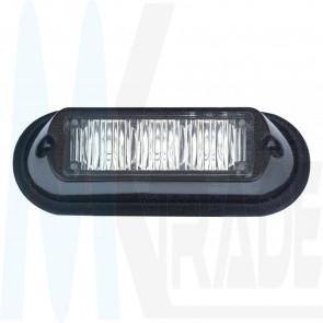 9W LED Frontblitzer Anbau 3 LED's